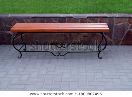 Wrought iron bench Stock photo © ivonnewierink