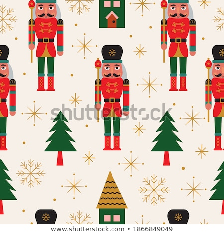 Whimsical Christmas Gifts and Nutcracker Stock photo © komodoempire