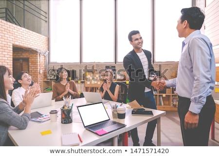 бизнесмен стороны из введение Сток-фото © RTimages