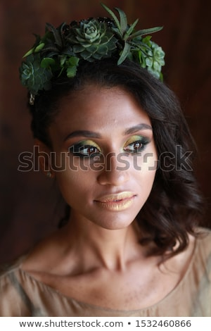 piękna · piękna · kostium · odizolowany - zdjęcia stock © Pilgrimego