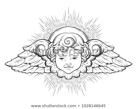 ангела · ярко · небо · стиль · фон · Бога - Сток-фото © ca2hill