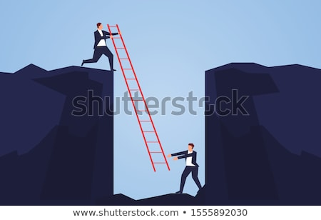 Rescue of overworked businessman  Stock photo © carbouval