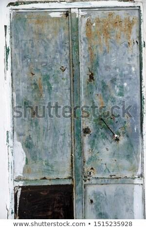 öregedés · ajtó · fa · otthon · háttér · zár - stock fotó © maisicon