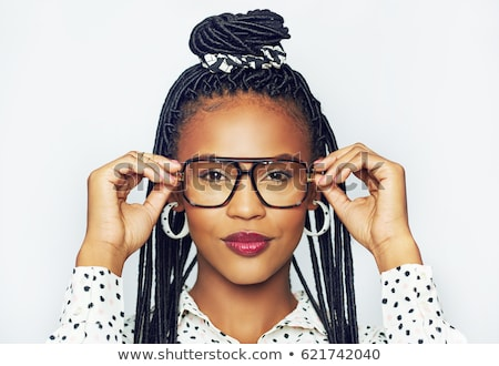 Portrait of young woman with braid hairdo Stock photo © zastavkin