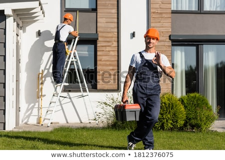 Builder posing with a toolbox Stock photo © photography33