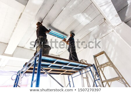 two electricians with neon stock photo © photography33