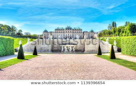 statue at the baroque castle belvedere in vienna austria stock photo © vladacanon