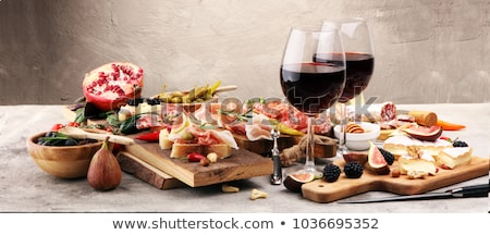 Italian food & Wine Stock photo © pcanzo