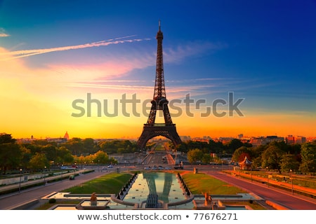 Backlit Eiffel Tower Stock photo © Harlekino
