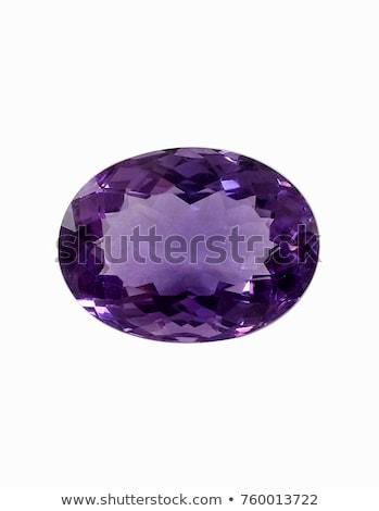 アメジスト クローズアップ 紫色 孤立した 白 石 ストックフォト © AlphaBaby