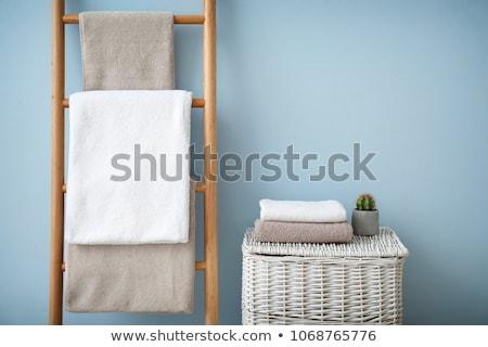 Colorato bagno asciugamani isolato bianco texture Foto d'archivio © kitch