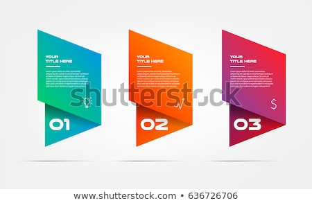 Abstract blue business symbol with 3 elements Stock photo © MONARX3D