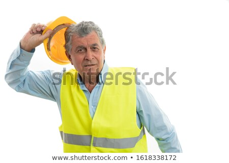 man preparing to take off hat stock photo © feedough
