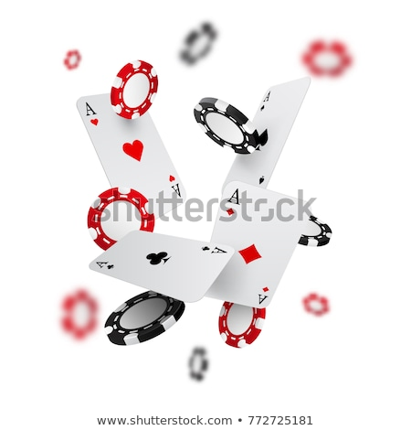 casino card with poker chips vector stock photo © carodi
