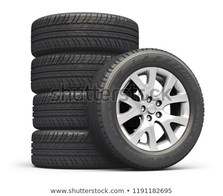 3d tyre - car wheel Stock photo © ribah