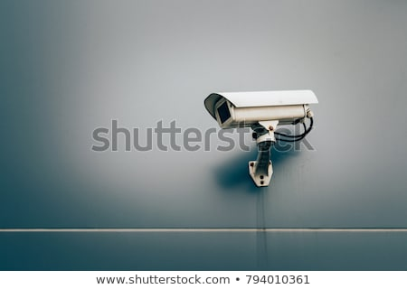 Bewakingscamera muur gebouw glas veiligheid Blauw Stockfoto © g215
