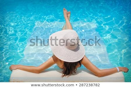 女性 日光浴 プール エッジ 美 夏 ストックフォト © wavebreak_media