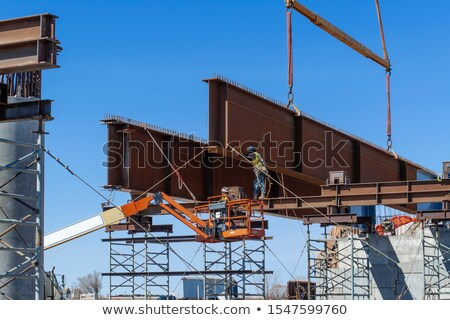 crane on the construction of overpass Stock photo © Mikko