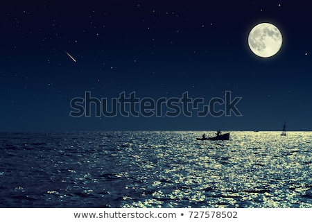 lighthouse at night with full moon stock photo © ankarb