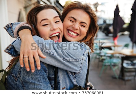 Dois jovem belo adolescente meninas amigável Foto stock © rosipro