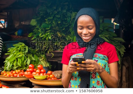African woman with mobile phone Stock photo © photography33