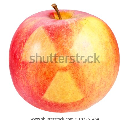 Red apple with sign of nuclear danger Stock photo © boroda