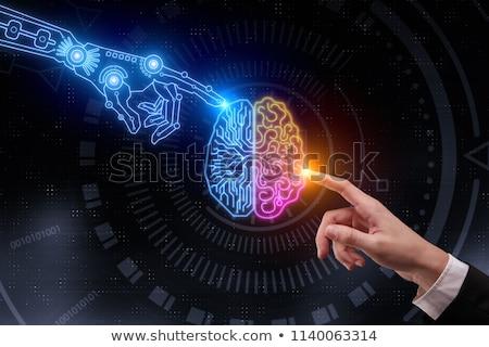 Ilustração digital cérebro humano ciência cérebro pensar gráfico Foto stock © 4designersart