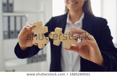 strategie · leiderschap · oplossingen · business · symbool · rechtdoor - stockfoto © lightsource