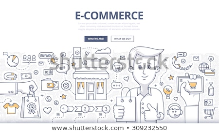 abstract · shopping · carta · pulsante · business · design - foto d'archivio © rioillustrator