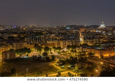 ローマ · 風景 · 1泊 · 大聖堂 · 橋 · 空 - ストックフォト © lillo