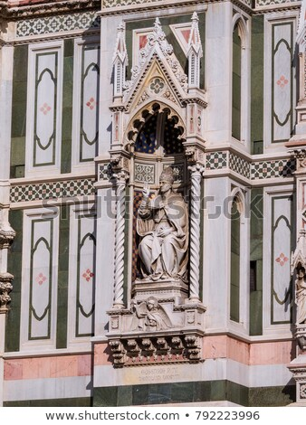 pope statue duomo cathedral florence italy stock photo © billperry