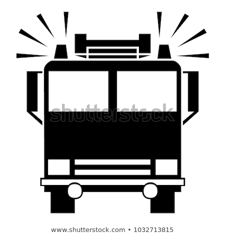 Vector icon fire engine Stock photo © zzve