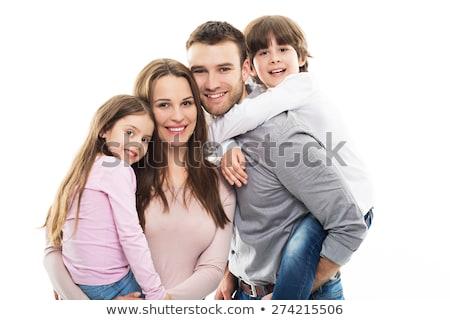 mãe · filho · filha · feliz · branco - foto stock © dacasdo