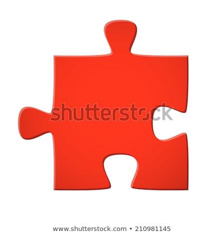 fényes · puzzle · színes · darabok · piros · zöld - stock fotó © make