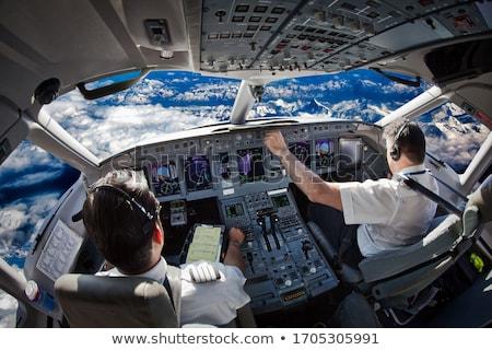 Cabine do piloto painel de controle aeronave trabalhar avião avião Foto stock © hraska