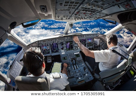 Cockpit bedieningspaneel vliegtuigen werk vliegtuig vliegtuig Stockfoto © hraska
