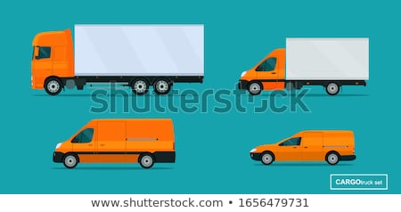 Stock photo: isolated truck