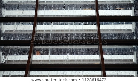 abstract water droplets over steel background stock photo © tolokonov