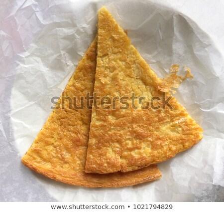 Kettő szeletek tányér olasz sült liszt Stock fotó © Antonio-S