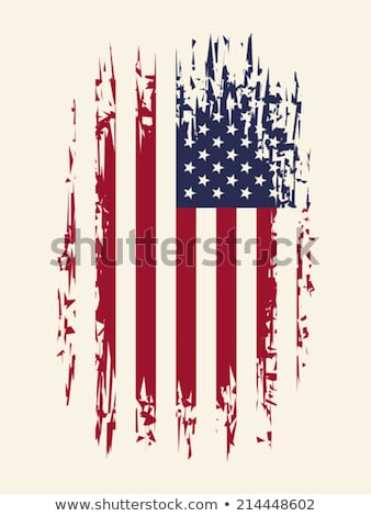Stylized American flag. Stock photo © leonido