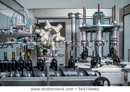 bottling machine for wine industry stock photo © lunamarina