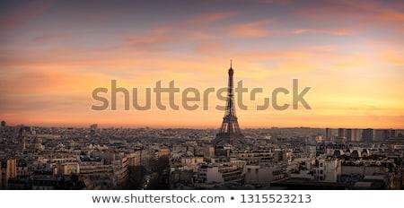Paris · Torre · Eiffel · França · pôr · do · sol · montanha - foto stock © photocreo