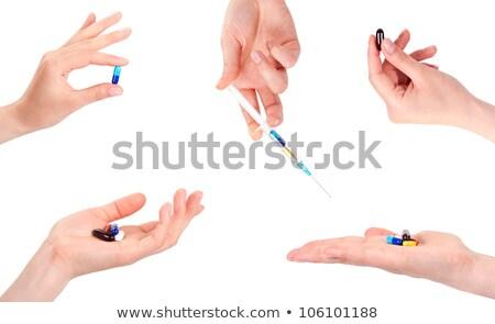 orvosi · tabletták · kapszulák · izolált · fehér · háttér - stock fotó © 4designersart
