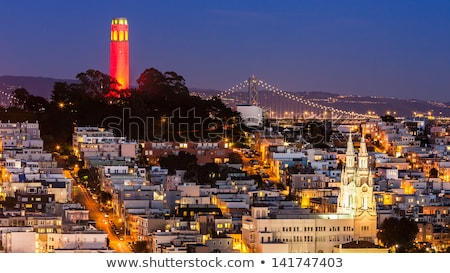 coit tower saint peter paul church bridge san francisco californ stock photo © billperry