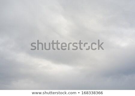 Céu cinza nuvens assustador belo abstrato Foto stock © Gloszilla