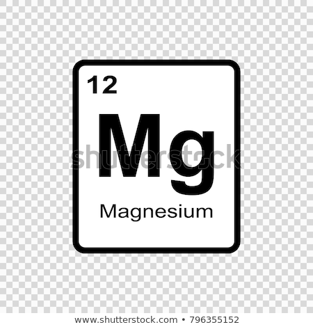 Símbolo químico elemento magnésio mão tecnologia Foto stock © Zerbor