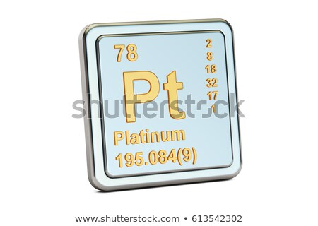 Symbool chemische element platina hand technologie Stockfoto © Zerbor