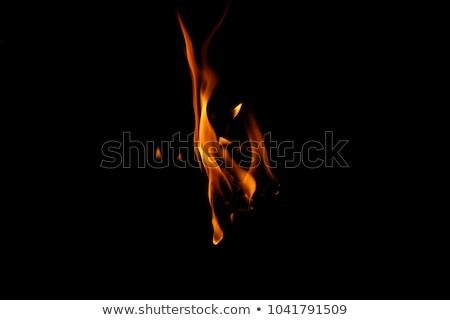 Parede fogo preto fraco reflexão abstrato Foto stock © dvarg