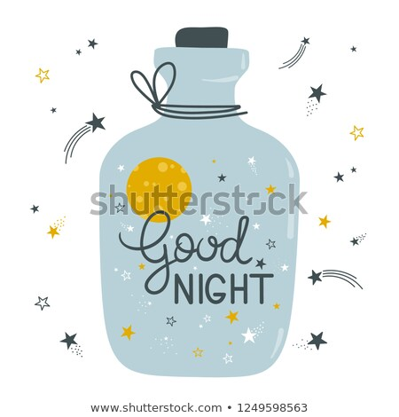 Message in a bottle on the moon Stock photo © TaiChesco