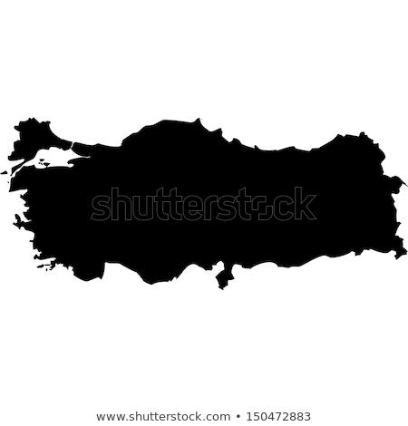 Contour Turkey map Stock photo © Volina